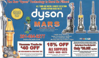Current Coupon for Mars Discount Vacuum valid until October 31, 2015